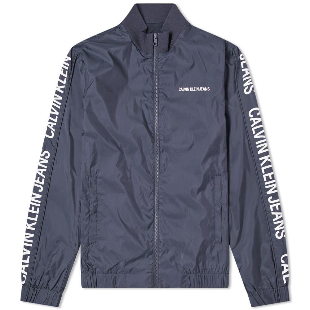 カルバンクライン Calvin Klein メンズ ジャージ アウター【side logo track jacket】Night Sky