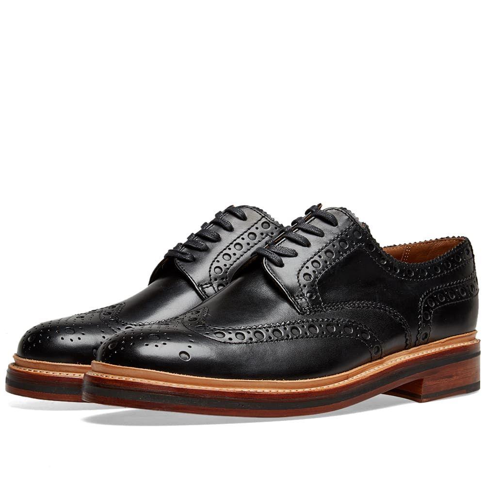 グレンソン Grenson メンズ シューズ・靴 革靴・ビジネスシューズ【Archie Brogue】Black Calf