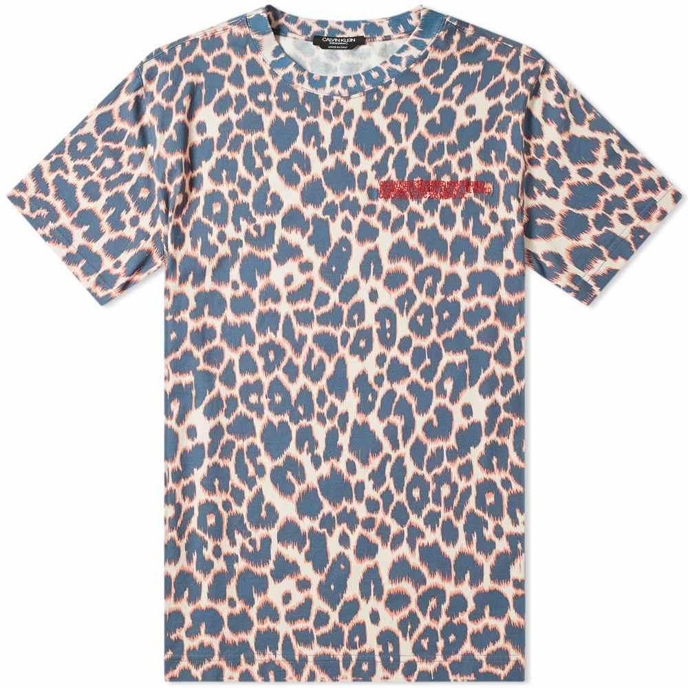 カルバンクライン Calvin Klein 205W39NYC メンズ Tシャツ トップス【leopard print tee】Electric Panther