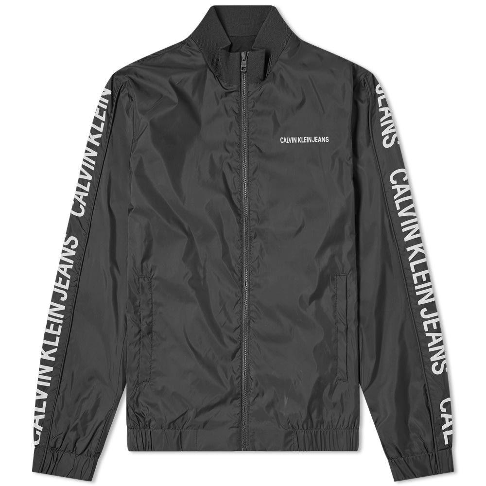 カルバンクライン Calvin Klein メンズ ジャージ アウター【side logo track jacket】Black