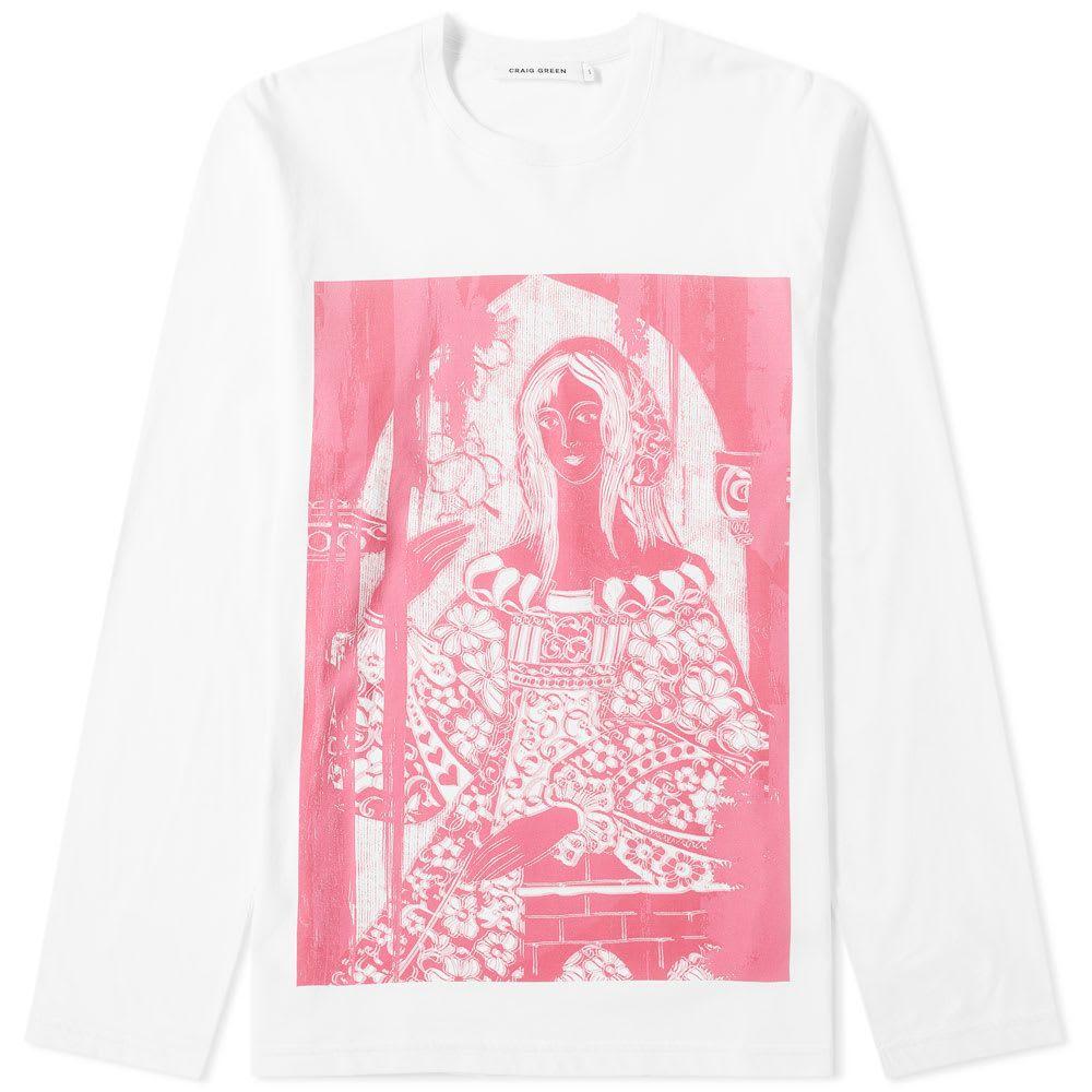 クレイググリーン Craig Green メンズ 長袖Tシャツ トップス【long sleeve woman tee】Pink