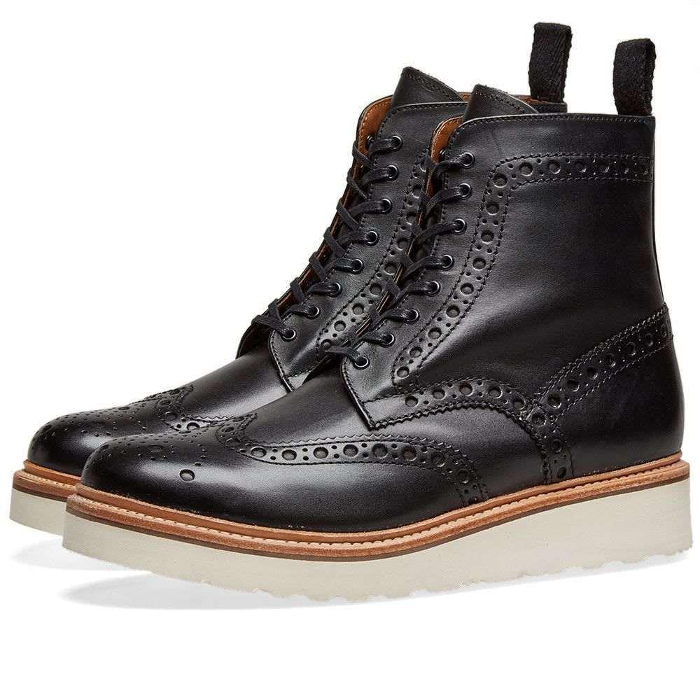 グレンソン Grenson メンズ シューズ・靴 ブーツ【Fred V Brogue Boot】Black