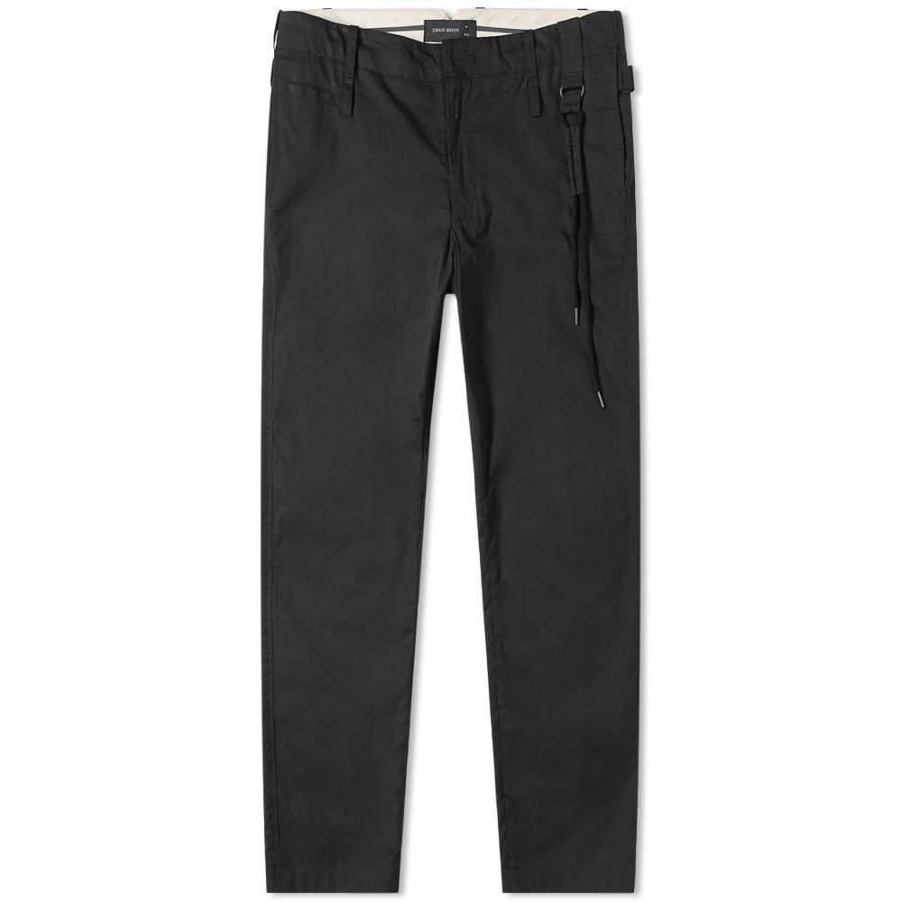 クレイググリーン Craig Green メンズ スキニー・スリム ボトムス・パンツ【cotton slim trouser】Black