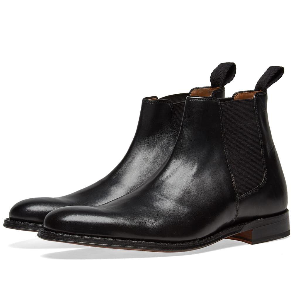 グレンソン Grenson メンズ シューズ・靴 ブーツ【Declan Chelsea Boot】Black Calf