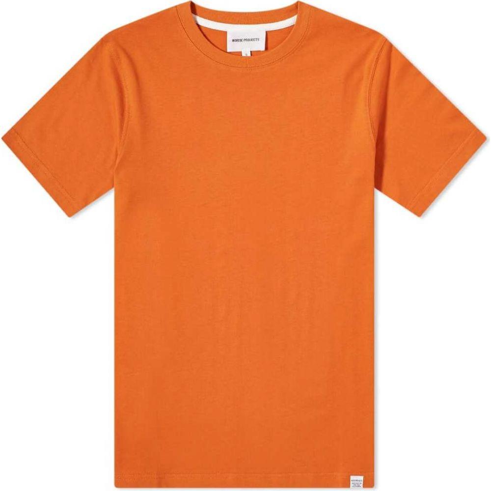 ノースプロジェクト Norse Projects メンズ Tシャツ トップス【niels standard tee】Golden Orange