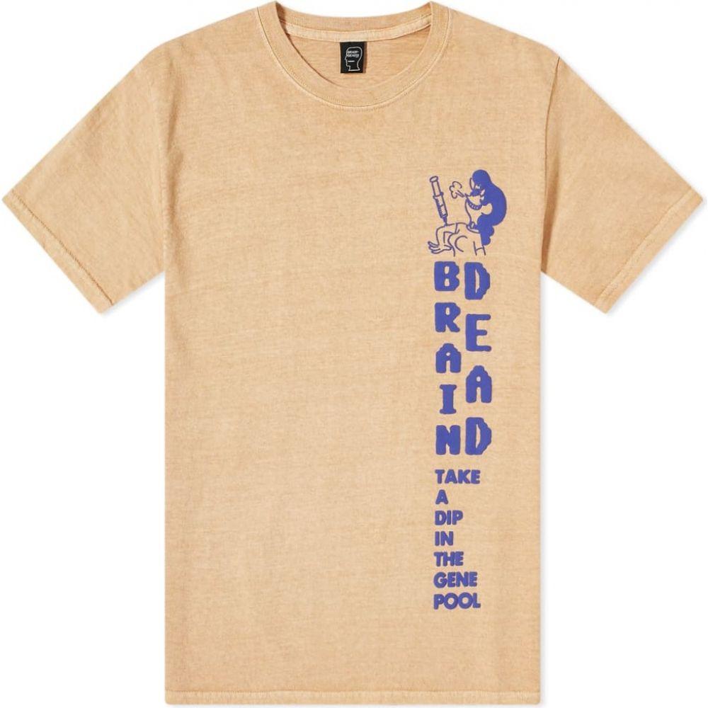 ブレインデッド Brain Dead メンズ Tシャツ トップス【gene pool tee】Taupe