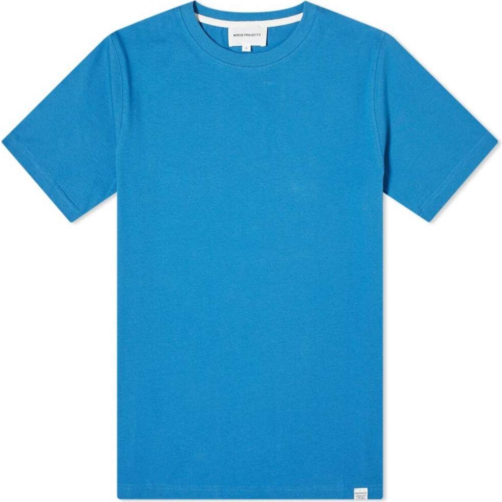 ノースプロジェクト Norse Projects メンズ Tシャツ トップス【niels standard tee】Himmel Blue