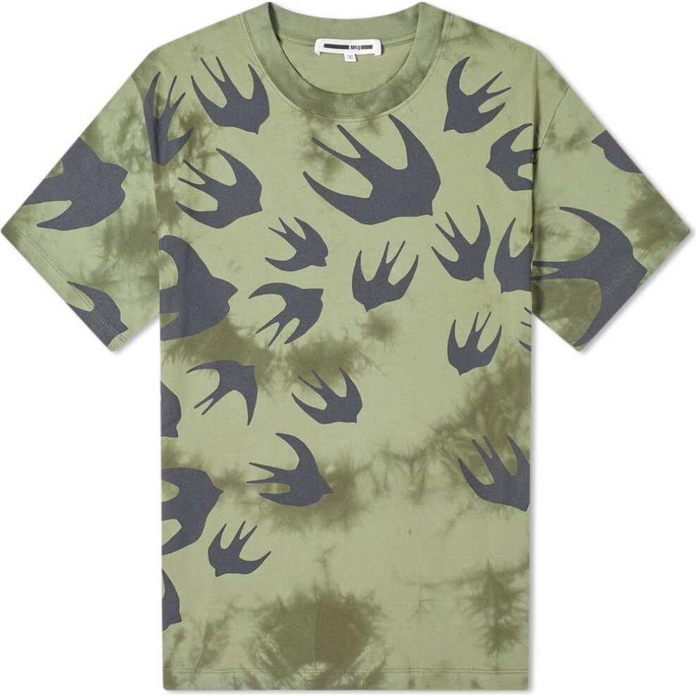 アレキサンダー マックイーン McQ Alexander McQueen メンズ Tシャツ トップス【tie dye swallow tee】Military Khaki