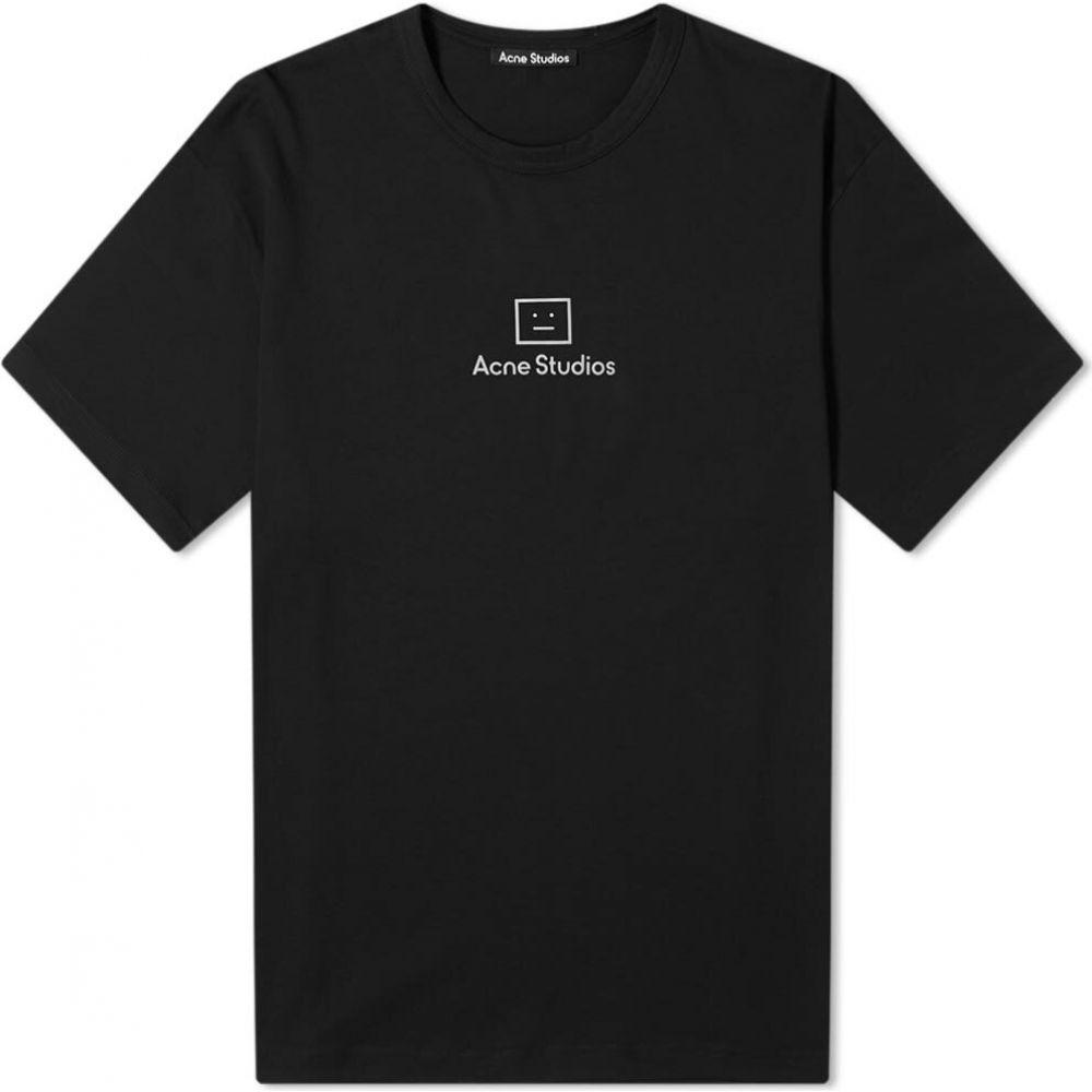 アクネ ストゥディオズ Acne Studios メンズ Tシャツ トップス【extorr reflect face tee】Black