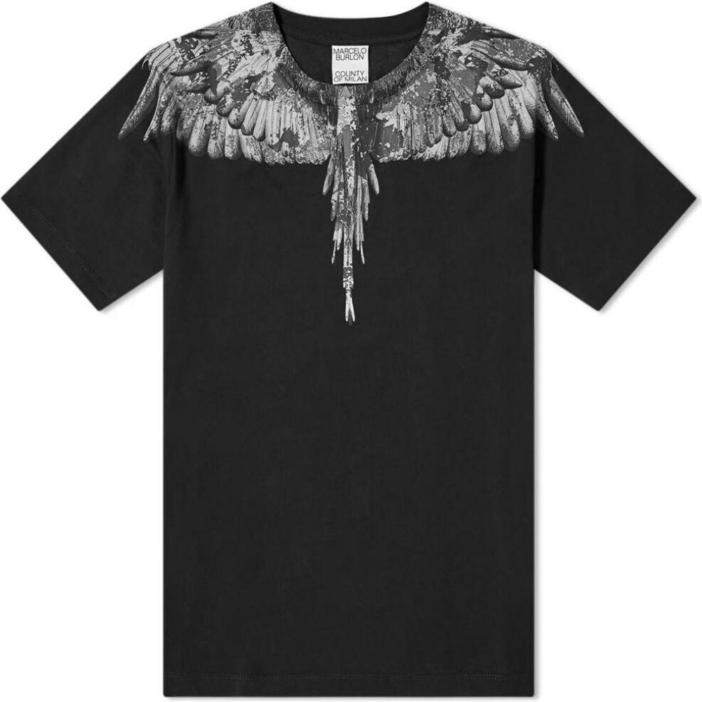 マルセロバーロン Marcelo Burlon メンズ Tシャツ トップス【camo wings tee】Black/Grey