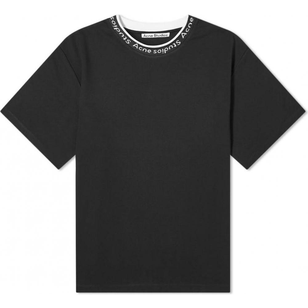 アクネ ストゥディオズ Acne Studios メンズ Tシャツ ロゴTシャツ トップス【extorr logo rib tee】Black