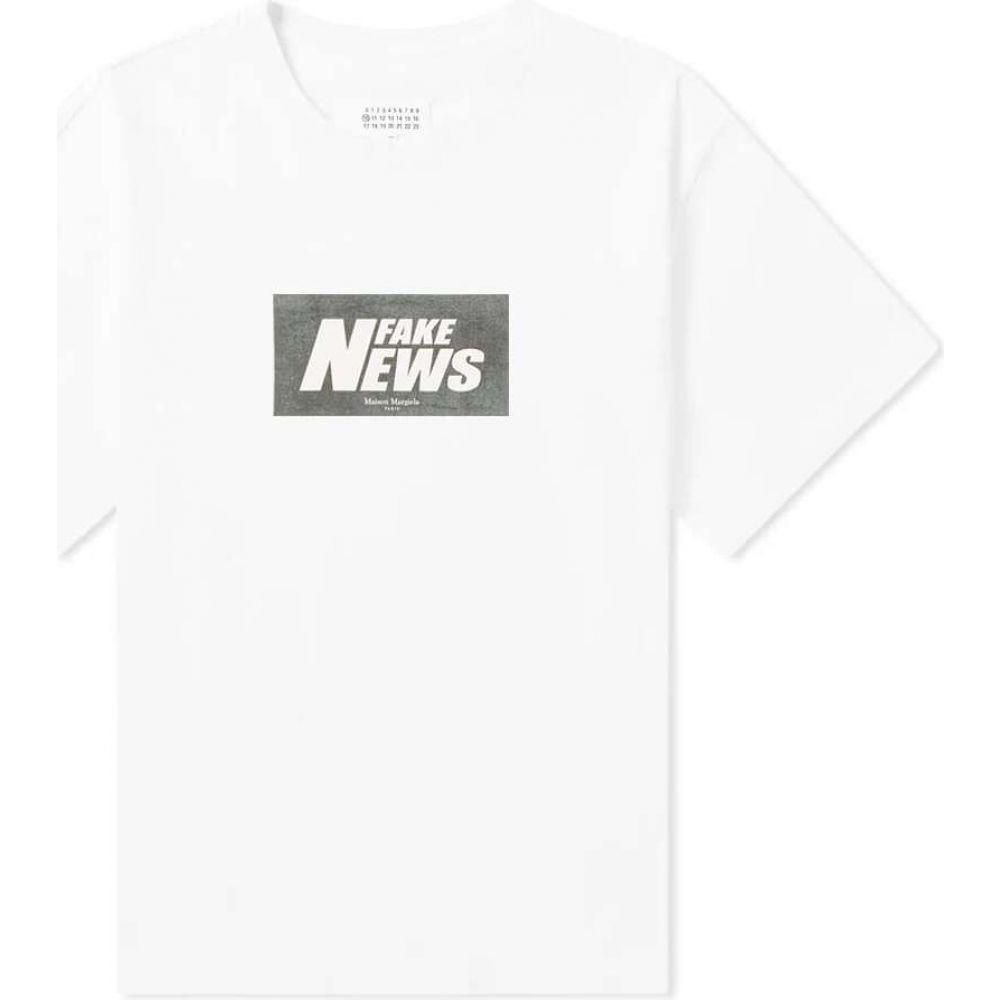 メゾン マルジェラ Maison Margiela メンズ Tシャツ トップス【10 oversize fake news tee】White