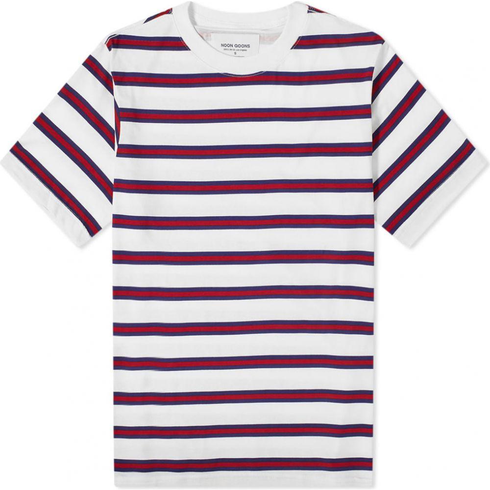 ヌーン グーンズ Noon Goons メンズ Tシャツ トップス【surfer stripe tee】Red/White