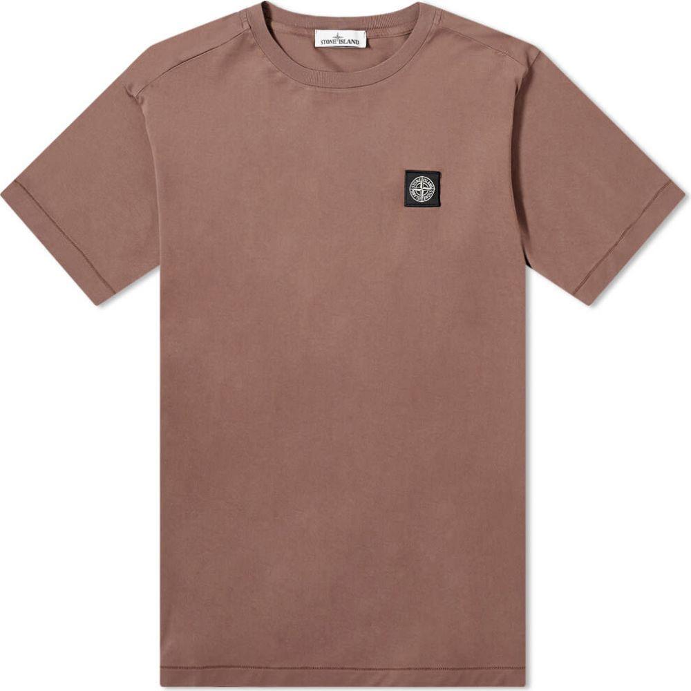 ストーンアイランド Stone Island メンズ Tシャツ ロゴTシャツ トップス【garment dyed patch logo tee】Mahogany