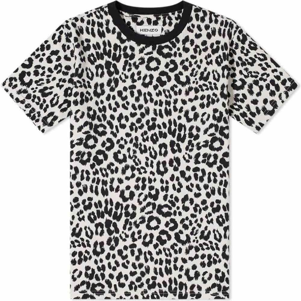 ケンゾー Kenzo メンズ Tシャツ トップス【leopard print tee】Ecru