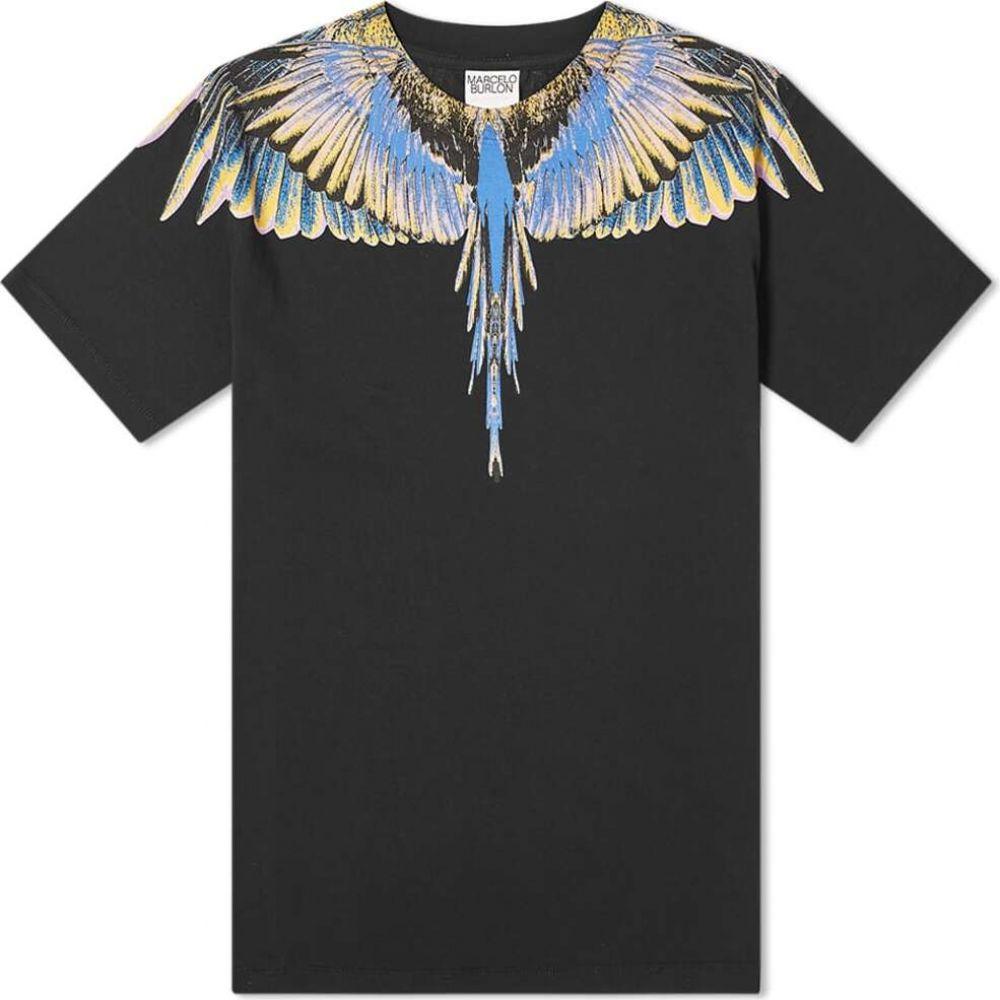 マルセロバーロン Marcelo Burlon メンズ Tシャツ トップス【classic wings tee】Black/Pink