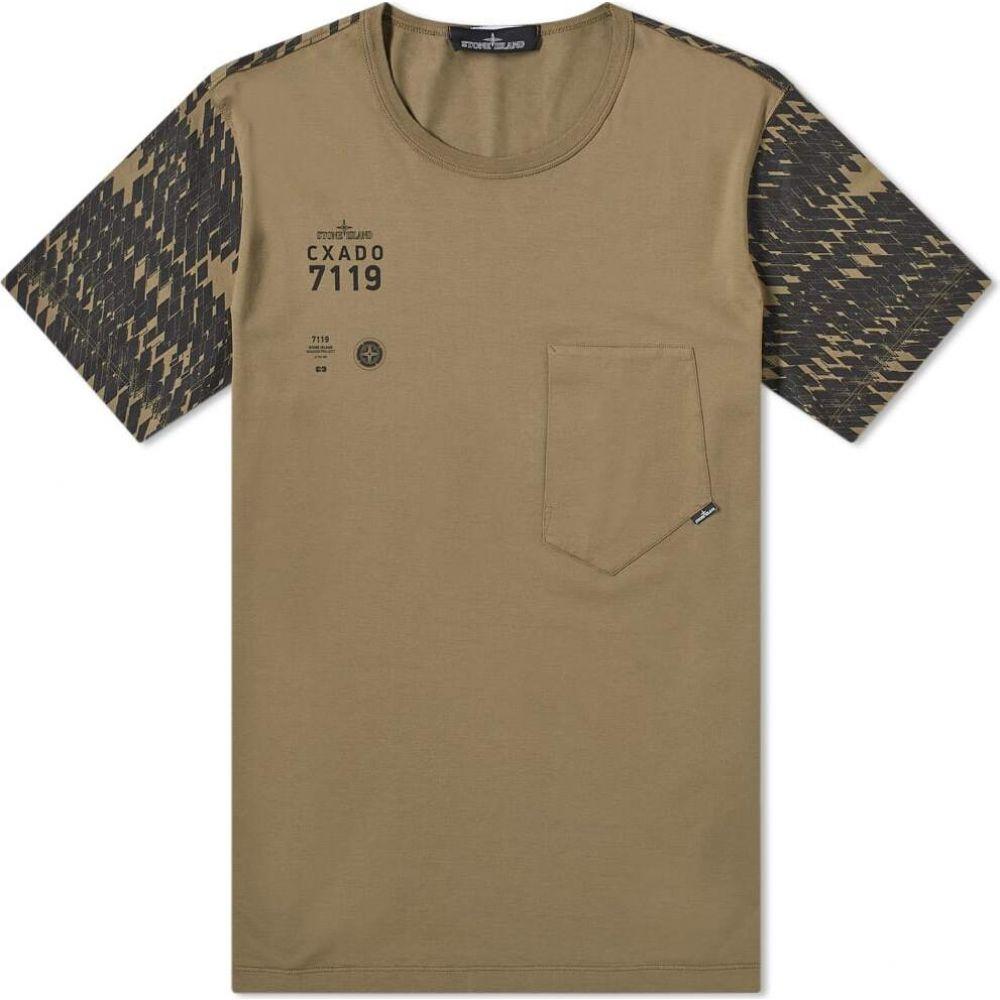 ストーンアイランド Stone Island メンズ Tシャツ ポケット トップス【shadow project catch pocket tee】Military Green