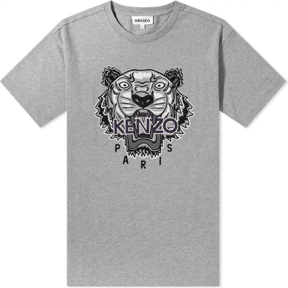 ケンゾー Kenzo メンズ Tシャツ トップス【embroidered varsity tiger tee】Grey