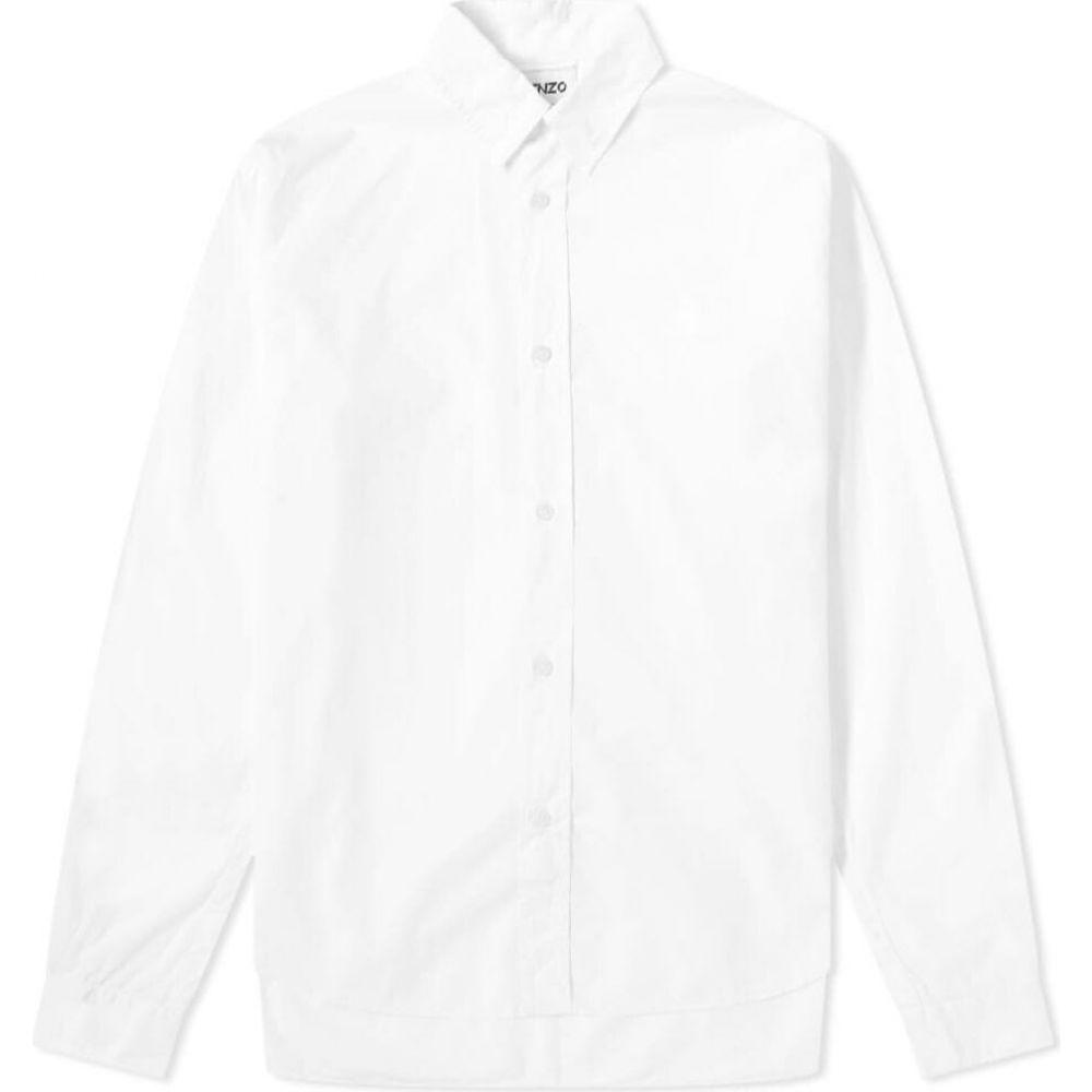 ケンゾー Kenzo メンズ シャツ トップス【tiger crest poplin shirt】White