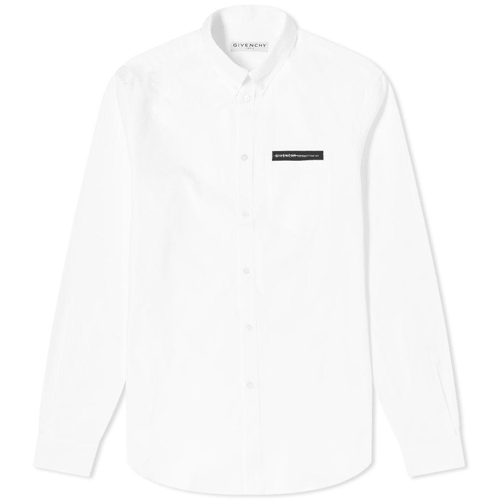 ジバンシー Givenchy メンズ シャツ トップス【tape pocket oxford shirt】White