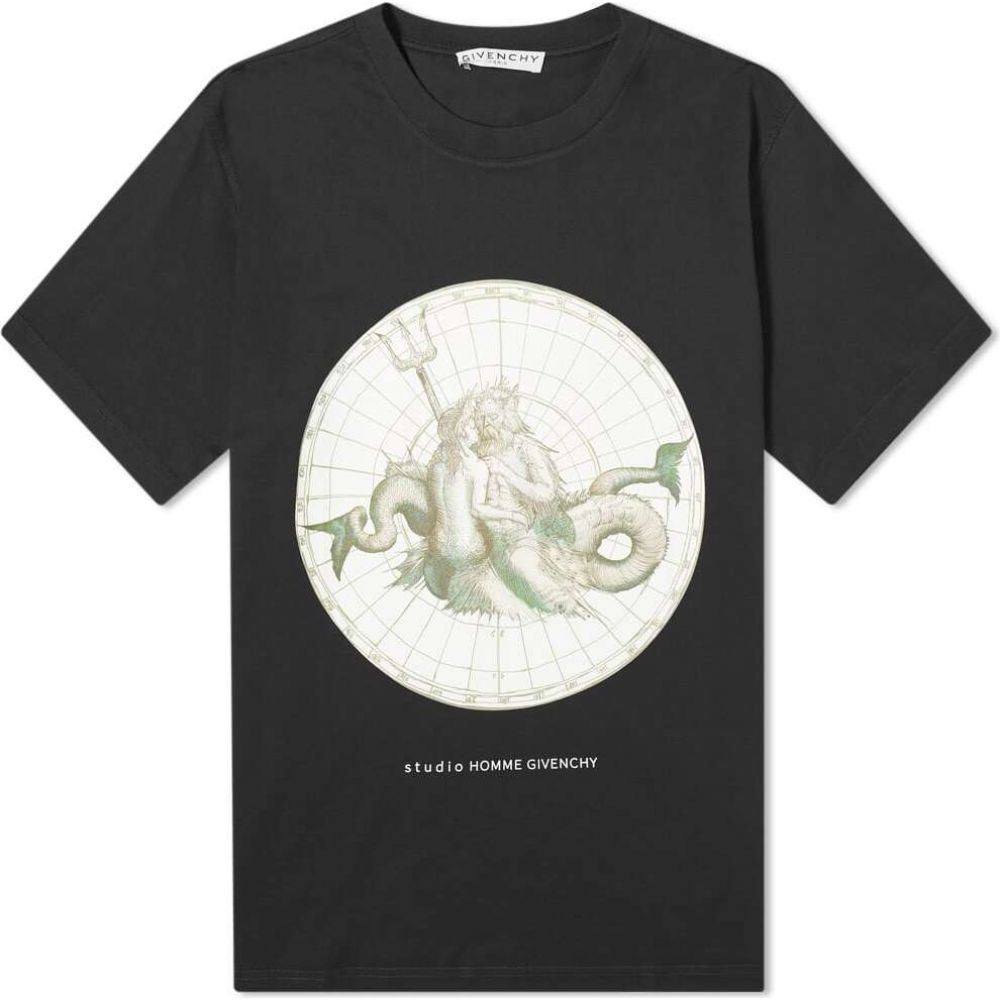 ジバンシー Givenchy メンズ Tシャツ トップス【oversized poseidon print tee】Black