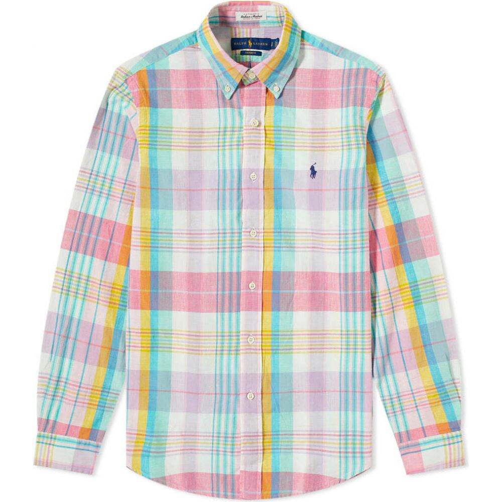 ラルフ ローレン Polo Ralph Lauren メンズ シャツ トップス【madras check shirt】Light Pink/Aqua Multi