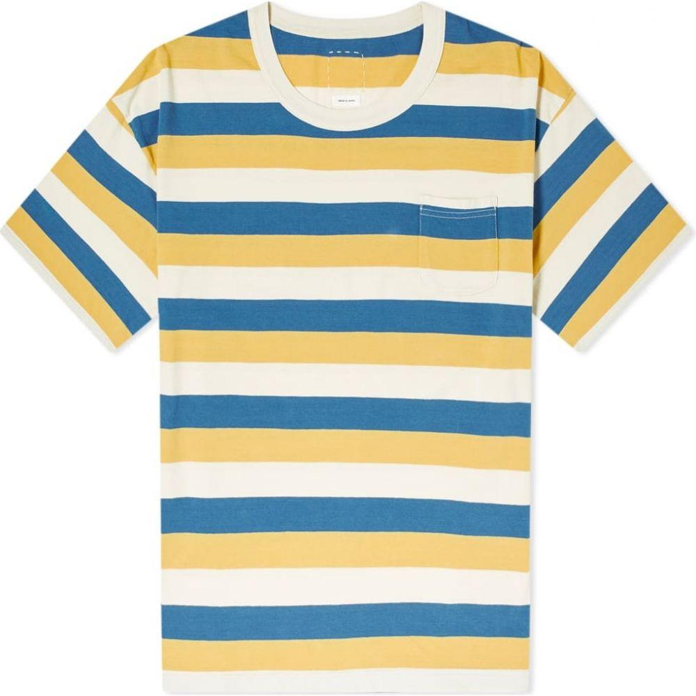 ビズビム Visvim メンズ Tシャツ トップス【border amplus tee】Yellow