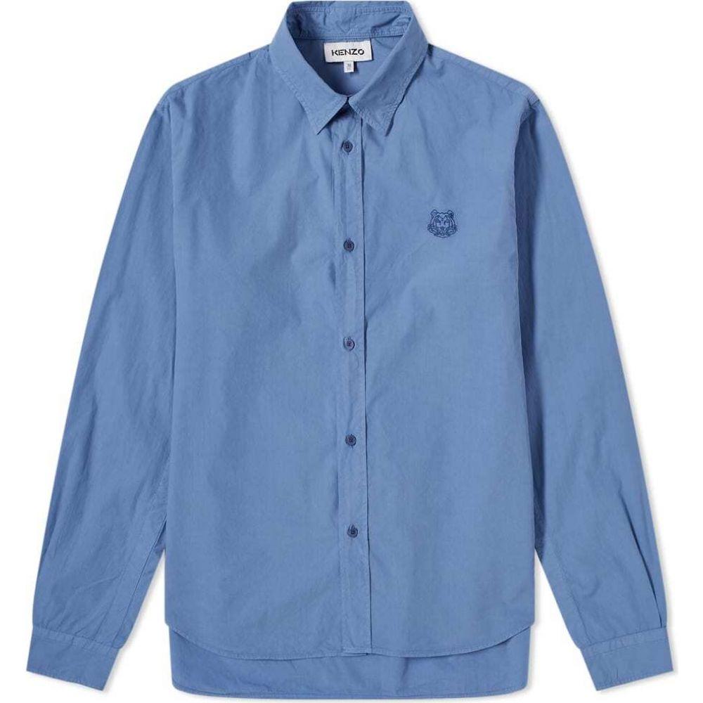 ケンゾー Kenzo メンズ シャツ トップス【tiger crest poplin shirt】Blue