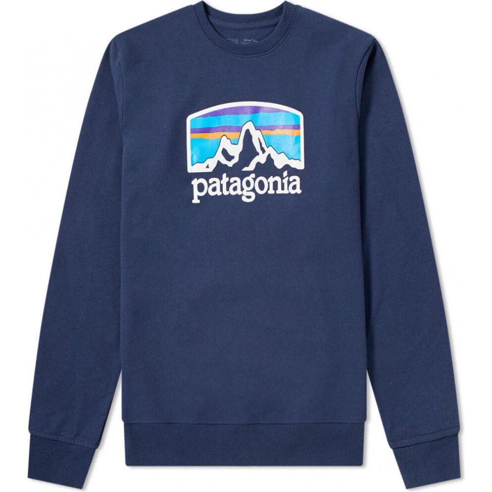 パタゴニア Patagonia メンズ スウェット・トレーナー トップス【fitz roy horizons uprisal crew sweat】Classic Navy
