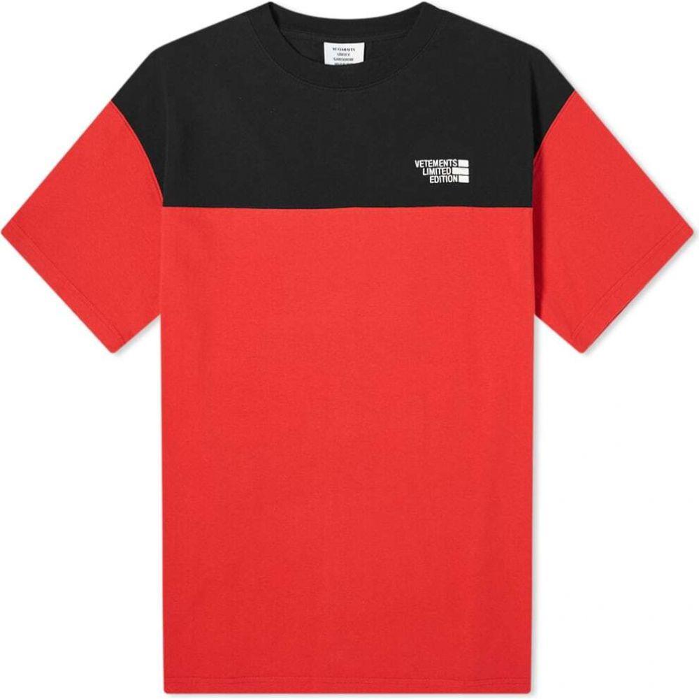 ヴェトモン VETEMENTS メンズ Tシャツ トップス【cut up tee】Red/Black