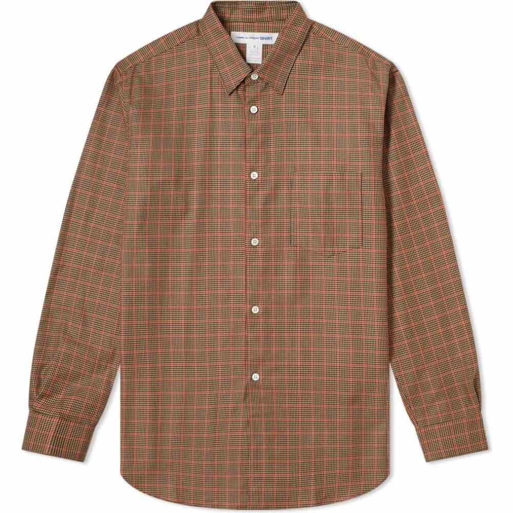 コム デ ギャルソン Comme des Garcons SHIRT メンズ シャツ トップス【poplin tweed check shirt】Brown