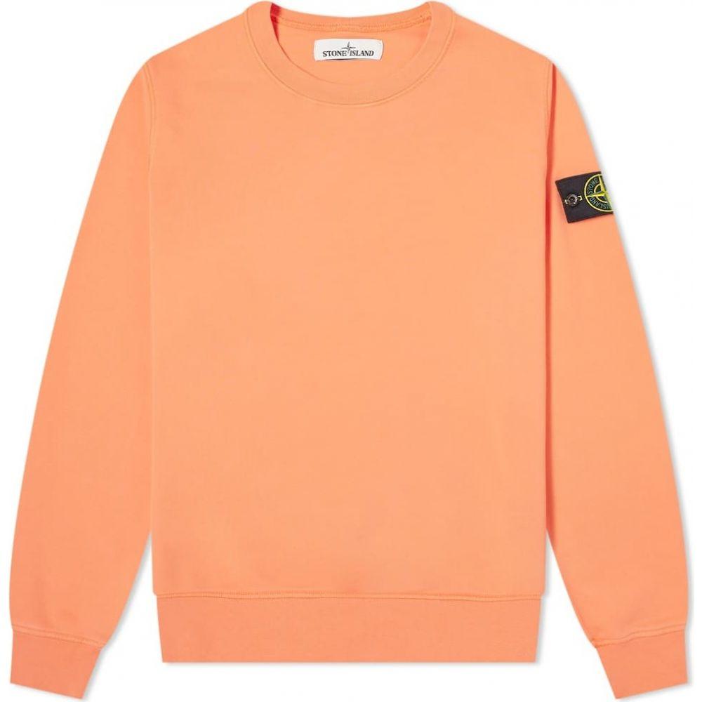 ストーンアイランド Stone Island メンズ スウェット・トレーナー トップス【garment dyed crew sweat】Orange Red