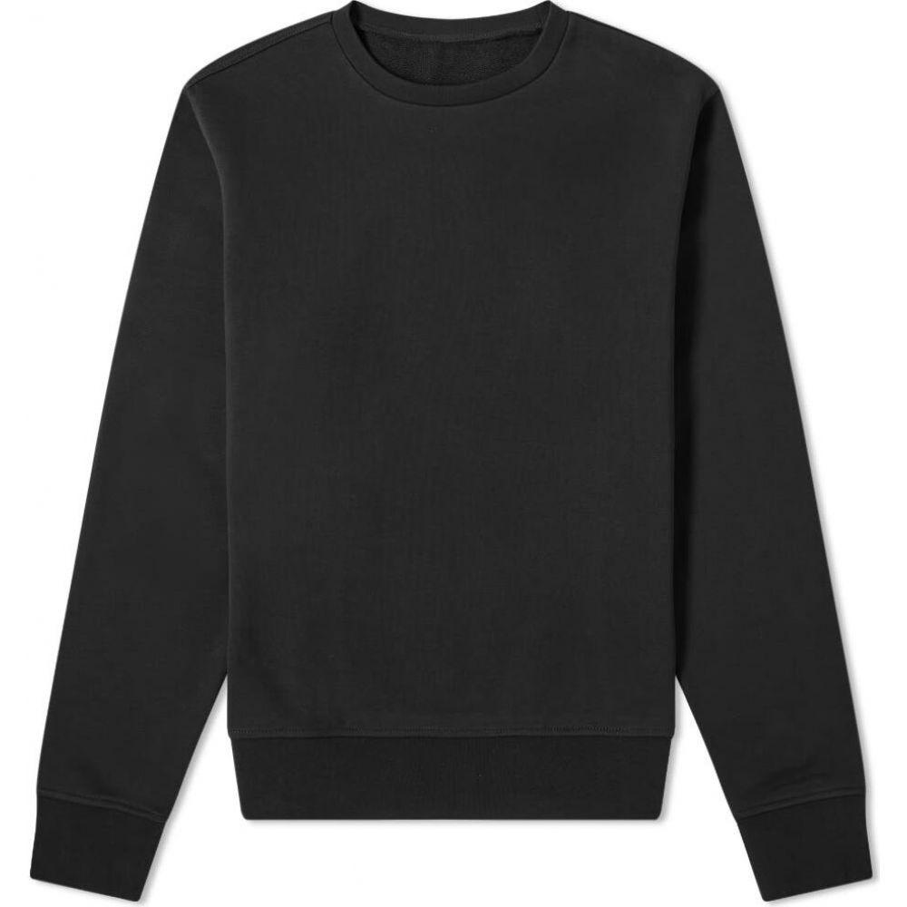 メゾン マルジェラ Maison Margiela メンズ スウェット・トレーナー トップス【14 leather elbow patch crew sweat】Black