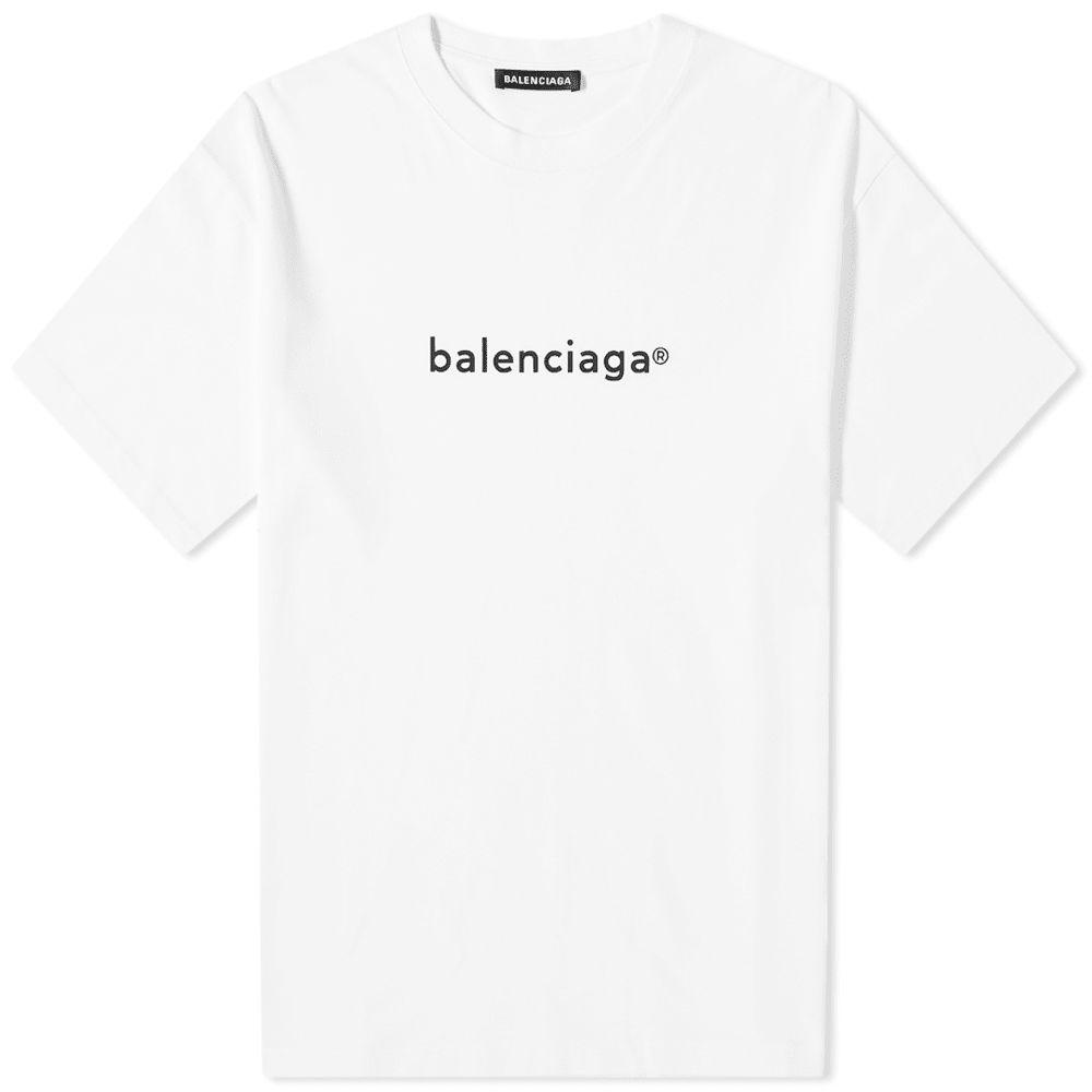 バレンシアガ Balenciaga メンズ Tシャツ ロゴTシャツ トップス【new copyright logo tee】White/Black