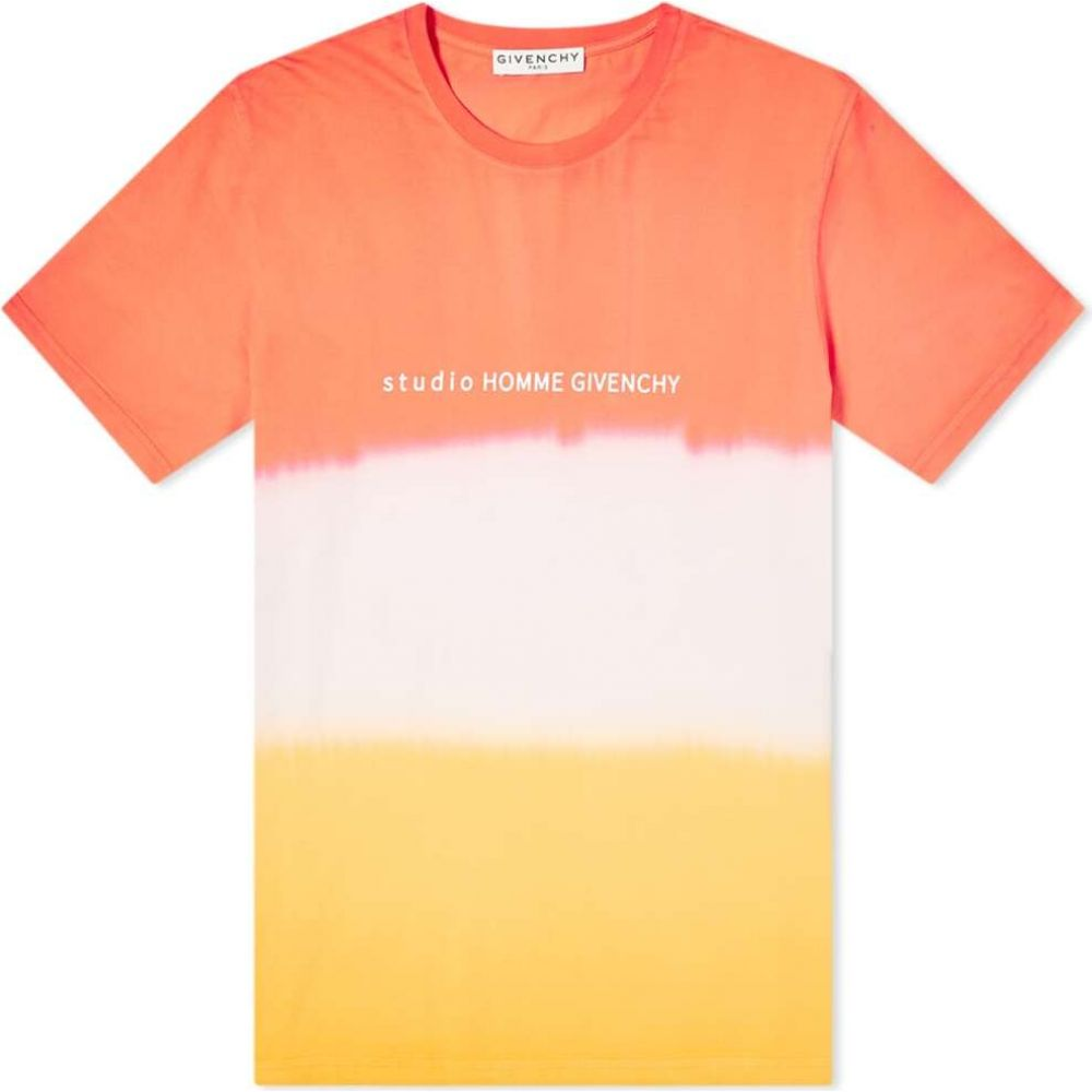 ジバンシー Givenchy メンズ Tシャツ トップス【regular fit studio homme tie dye tee】Dark Orange