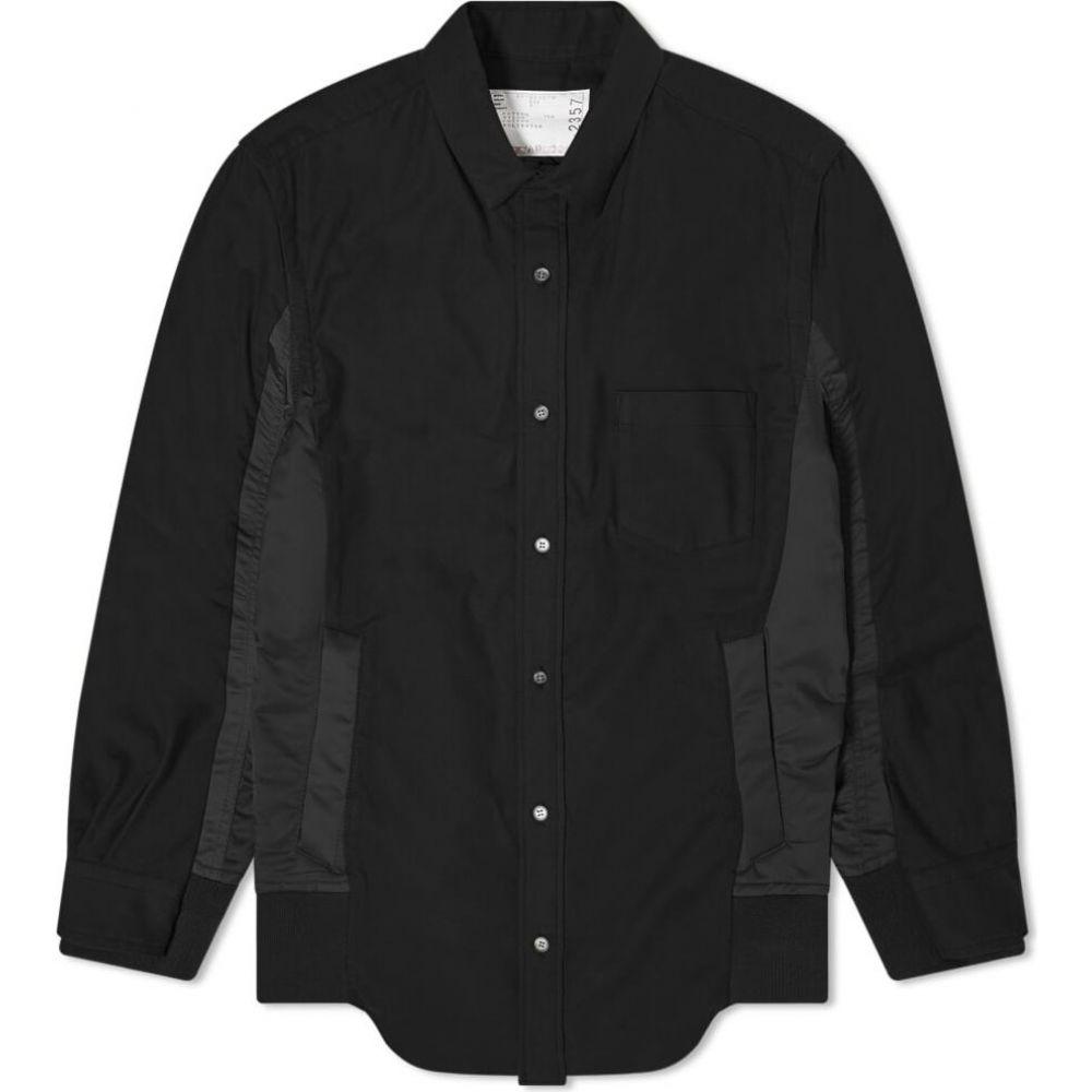 サカイ Sacai メンズ シャツ トップス【ma-1 insert shirt】Black