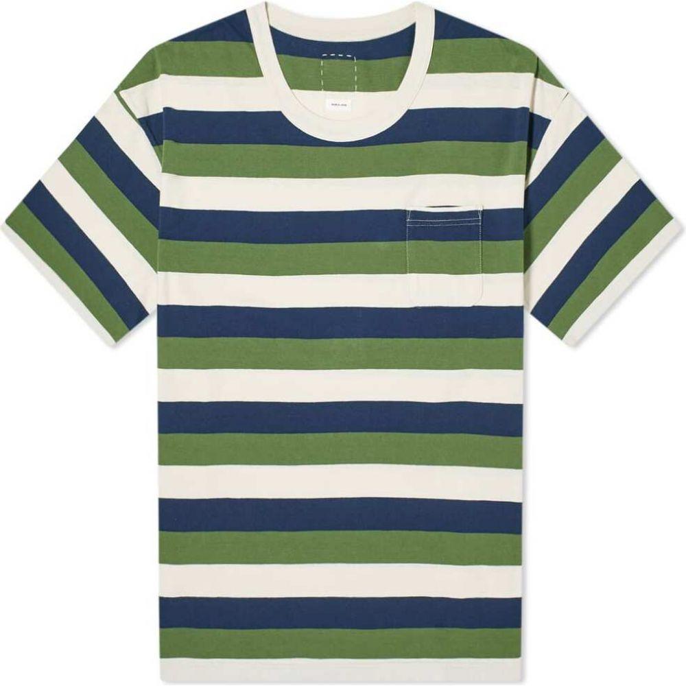 ビズビム Visvim メンズ Tシャツ トップス【border amplus tee】Green