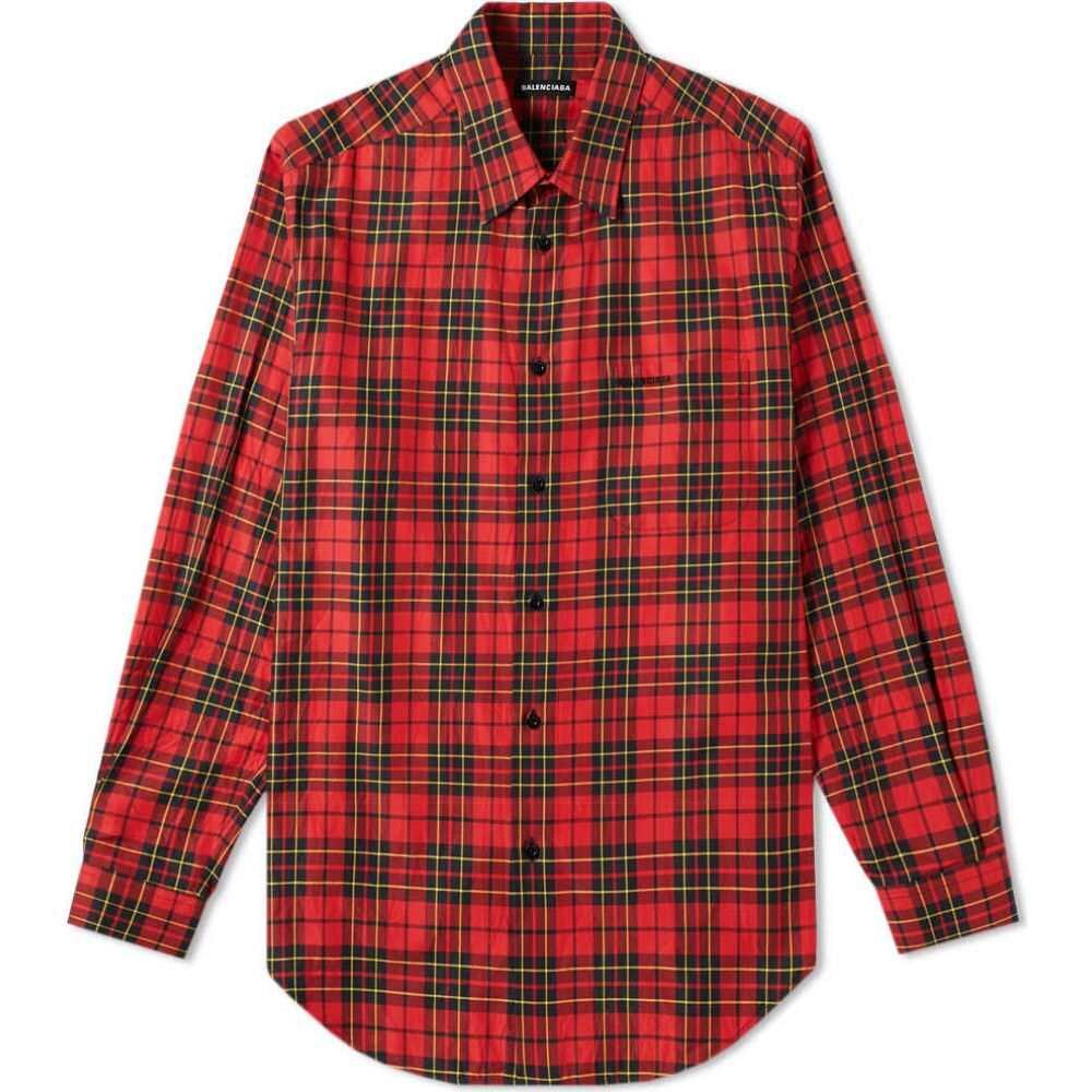 バレンシアガ Balenciaga メンズ シャツ トップス【tartan check logo shirt】Red