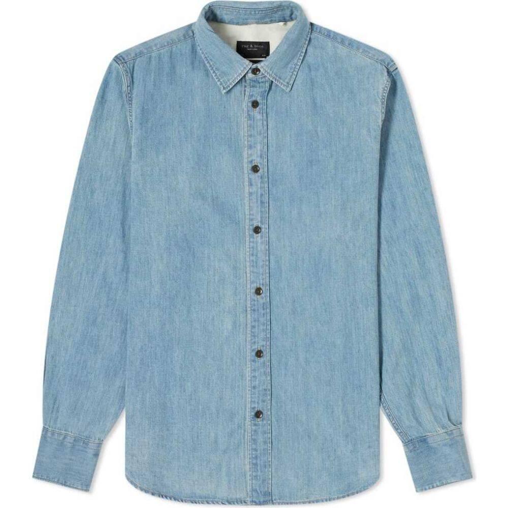 ラグ&ボーン Rag & Bone メンズ シャツ デニム トップス【denim shirt】Blue