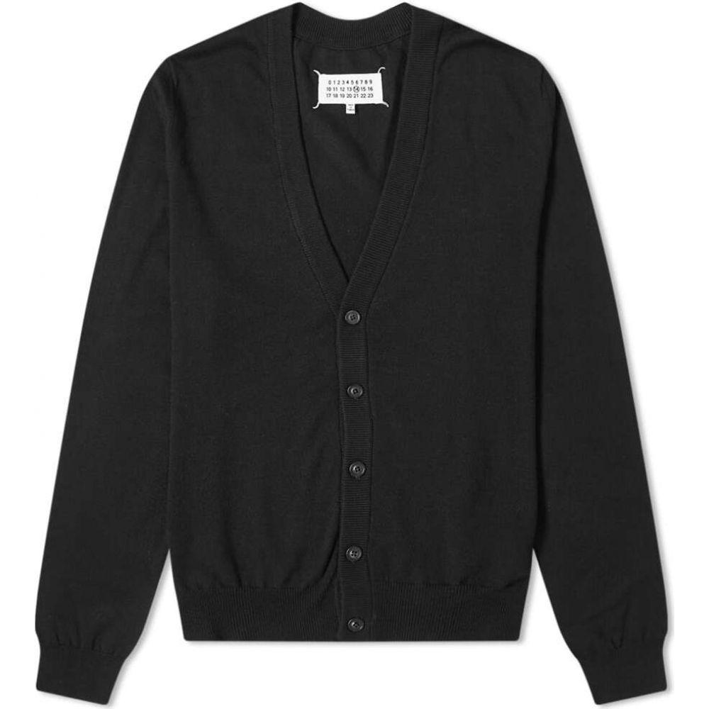 メゾン マルジェラ Maison Margiela メンズ カーディガン トップス【14 suede elbow patch cardigan】Black