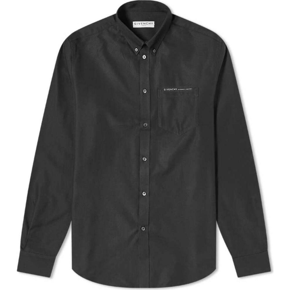 ジバンシー Givenchy メンズ シャツ トップス【tape pocket oxford shirt】Deep Black