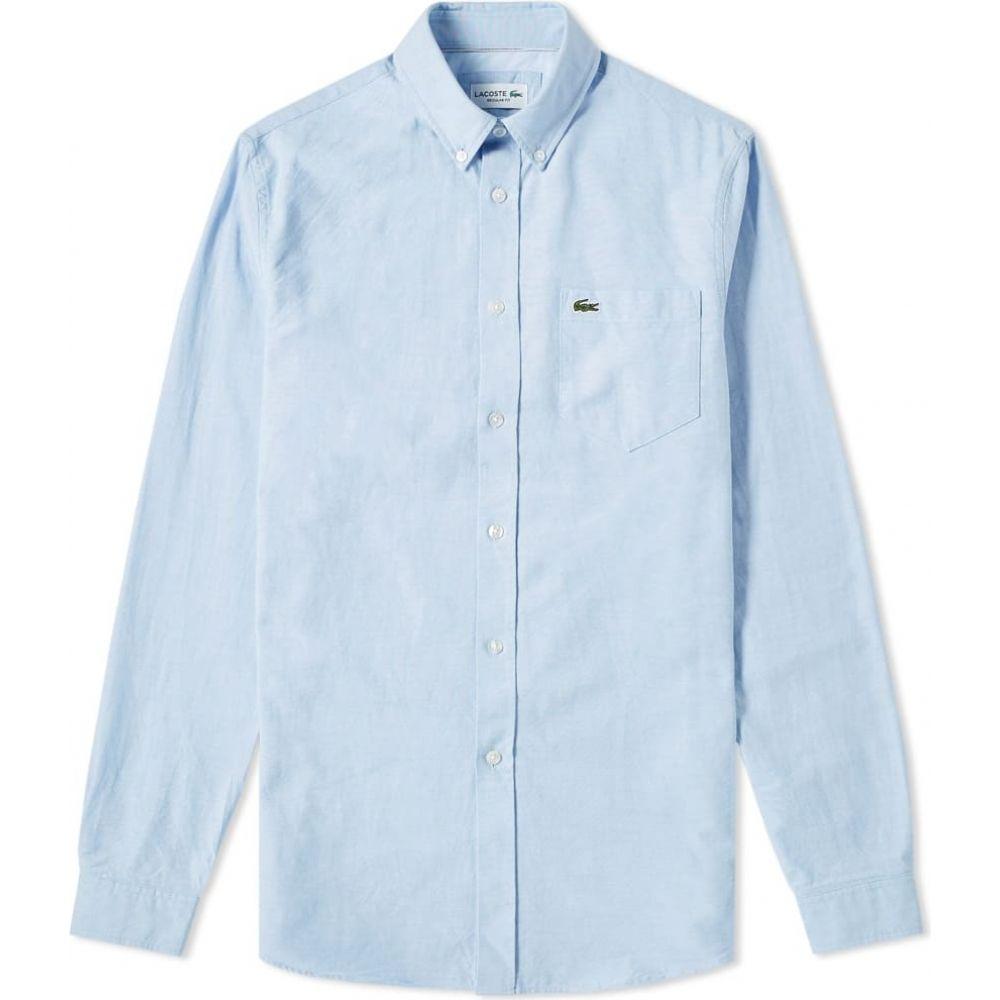 ラコステ Lacoste メンズ シャツ トップス【button down oxford shirt】Sky
