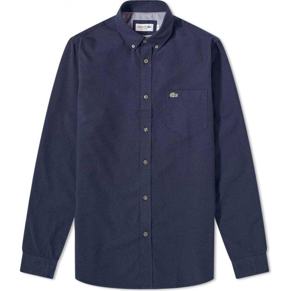 ラコステ Lacoste メンズ シャツ トップス【button down oxford shirt】Navy