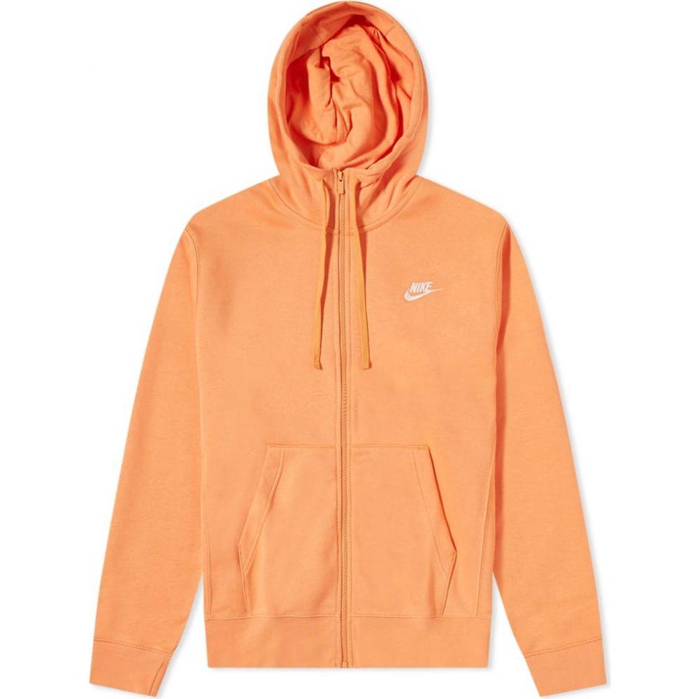 ナイキ Nike メンズ パーカー トップス【club zip hoody】Orange Trance