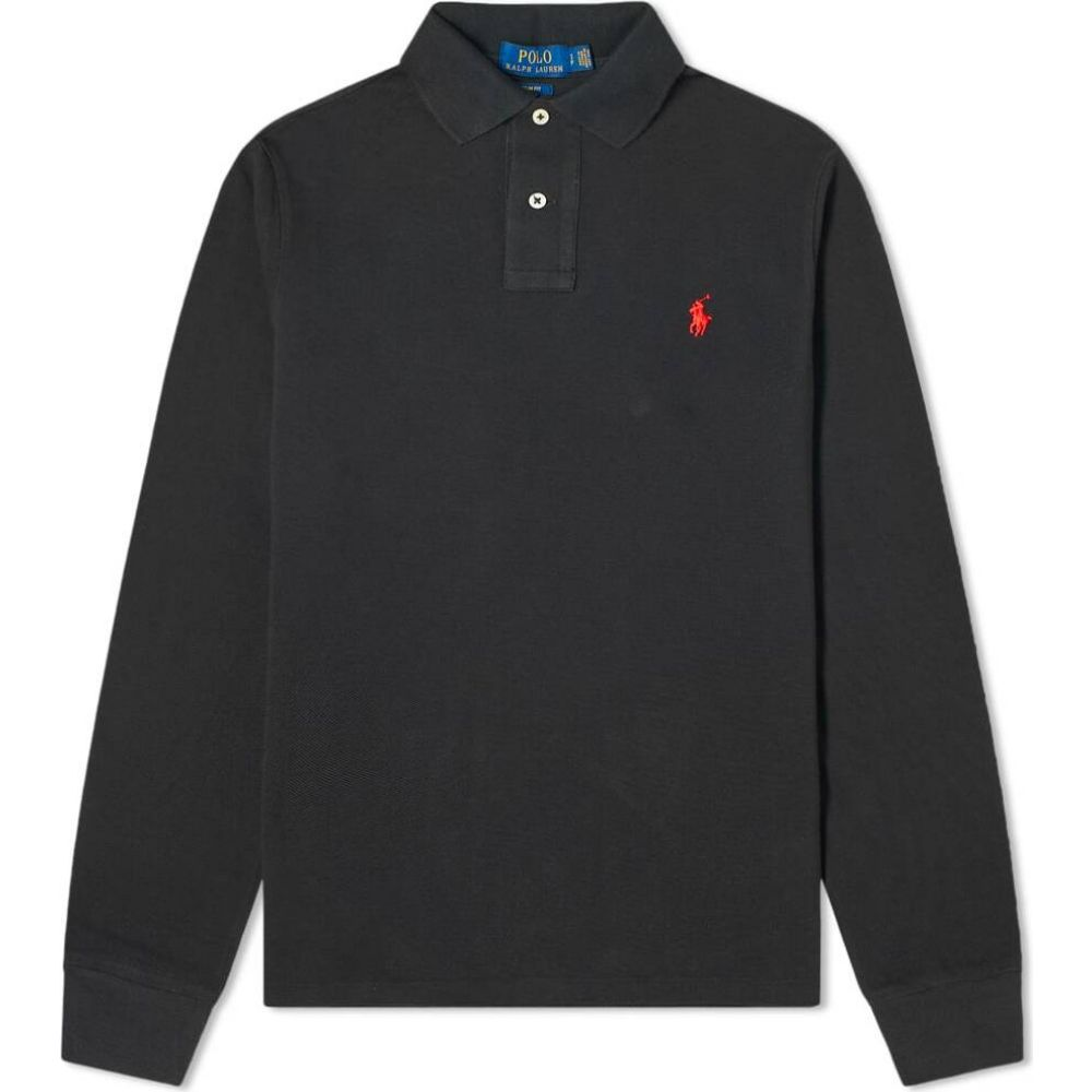 ラルフ ローレン Polo Ralph Lauren メンズ ポロシャツ トップス【long sleeve slim fit polo】Black