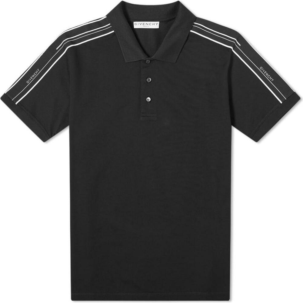 ジバンシー Givenchy メンズ ポロシャツ トップス【taped sleeve polo】Black