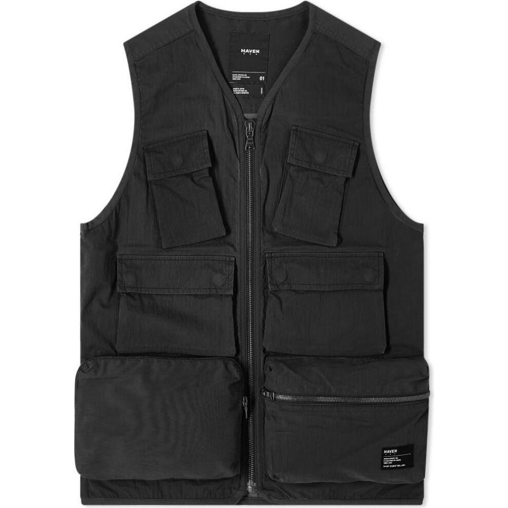 ヘブン HAVEN メンズ ベスト・ジレ トップス【tactical vest】Black