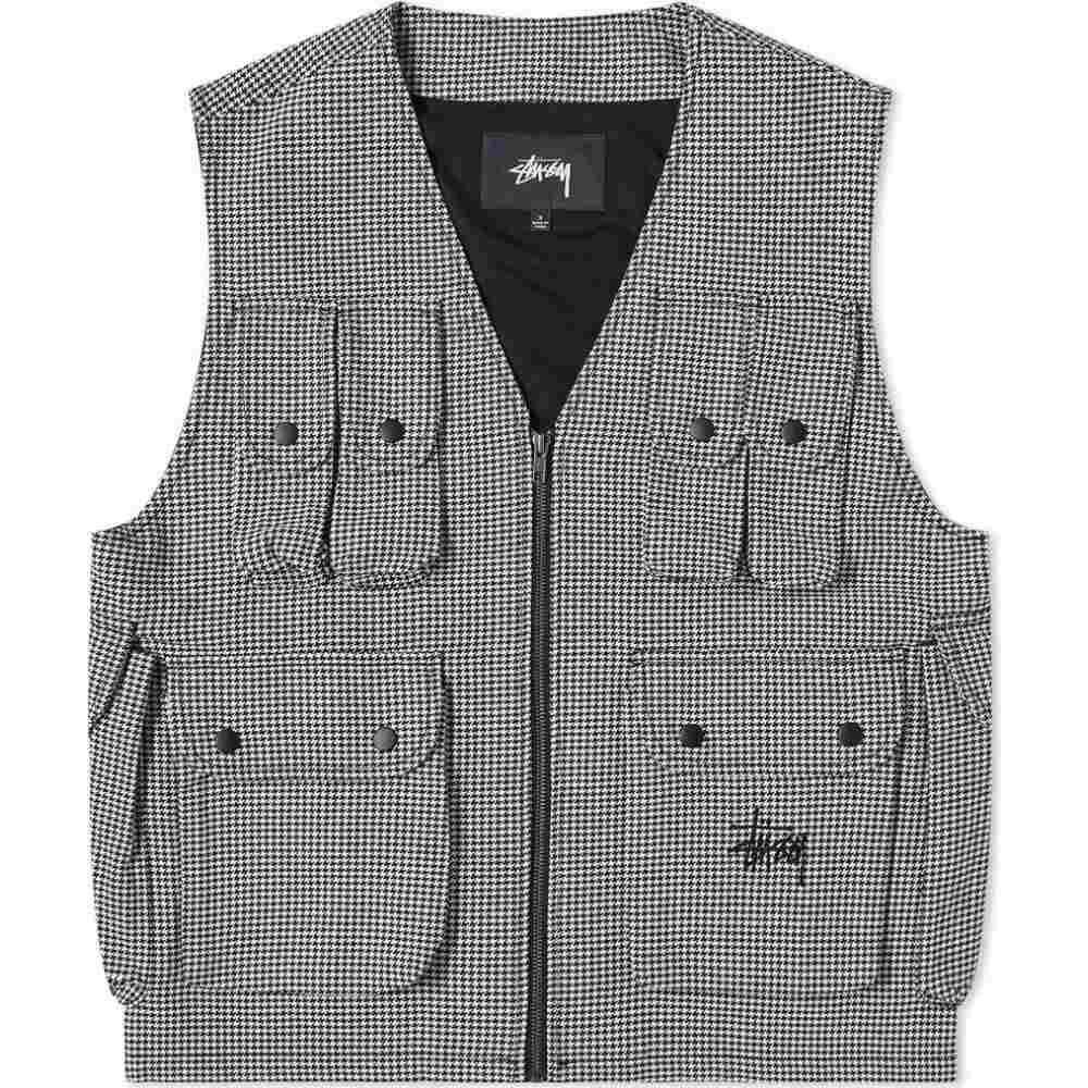 ステューシー Stussy メンズ ベスト・ジレ トップス【houndstooth work vest】Houndstooth