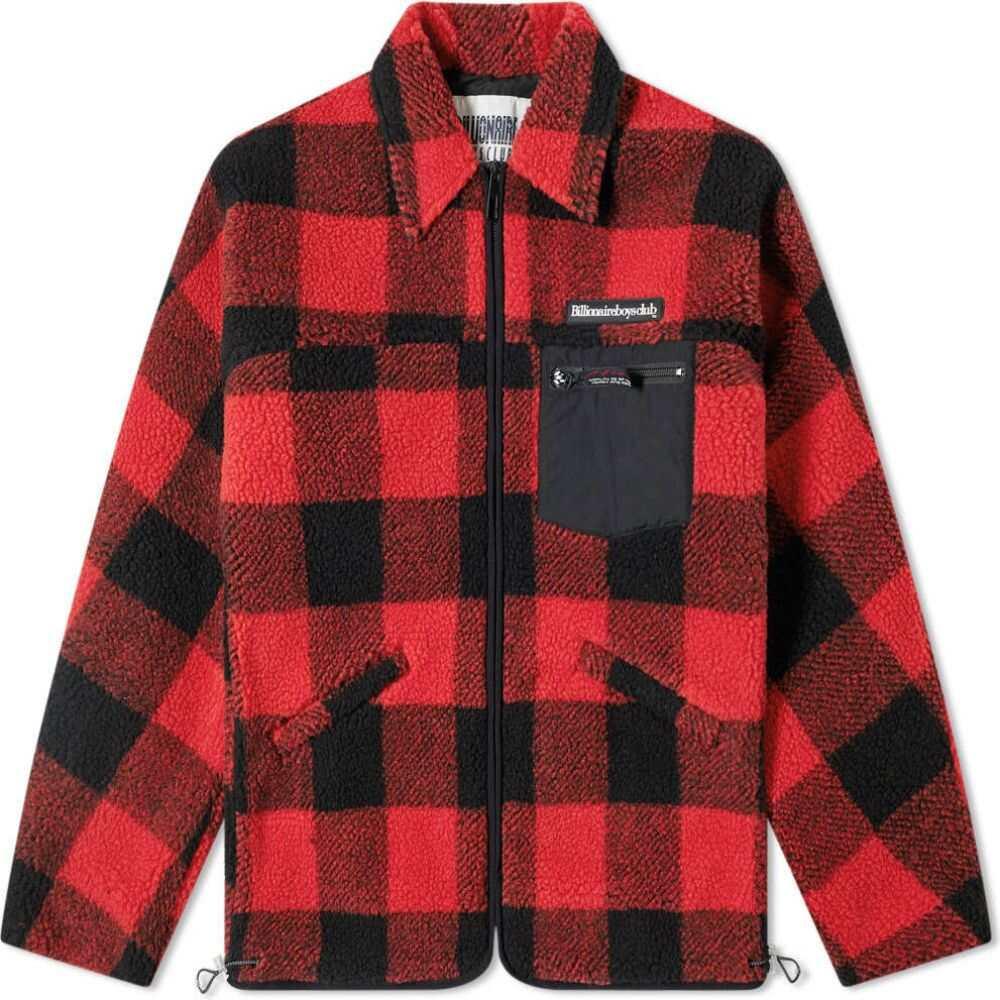 ビリオネアボーイズクラブ Billionaire Boys Club メンズ フリース トップス【fleece check zip jacket】Red