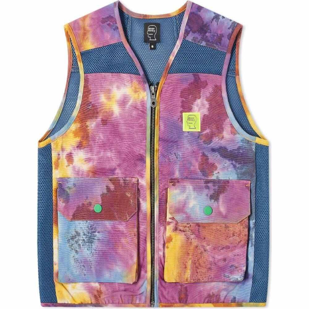 ブレインデッド Brain Dead メンズ ベスト・ジレ トップス【dyed canvas spacer mesh tactical vest】Tie Dye